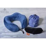 Дорожная подушка для путешествий с эффектом памяти пены ( MEMORY FOAM ), ортопедическая, мягкая. мод-05.